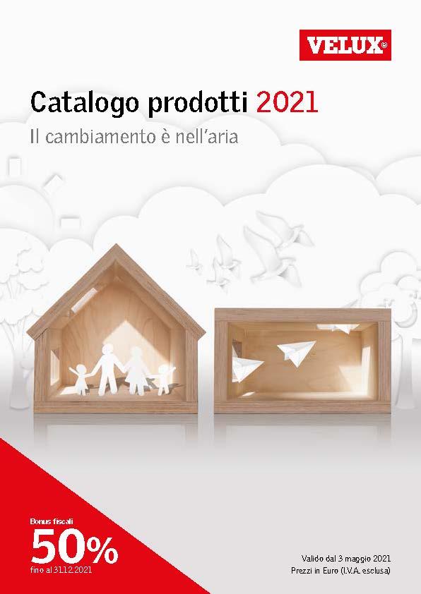 Cover Listino prezzi VELUX 2021